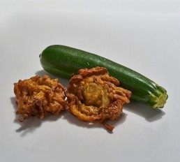 Plant Based Delicious Courgette & Onion Bhajis