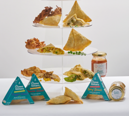 Green Sisters vegan and gluten free samosa range
