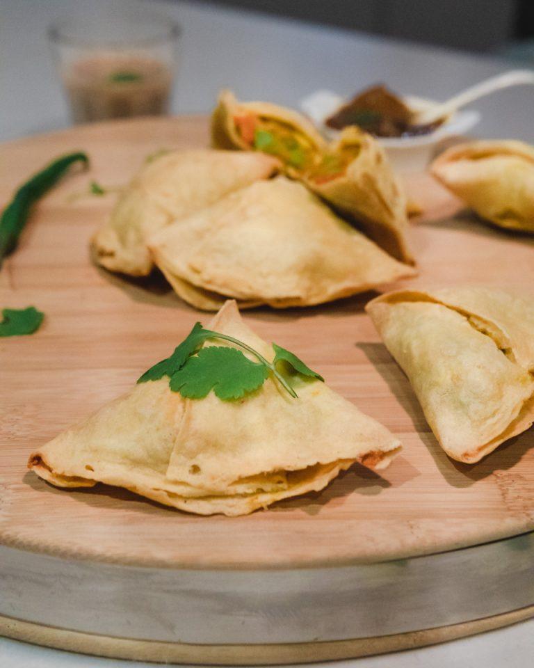 Vegan Gluten free Vegetable samosa