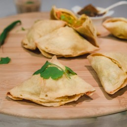 Vegan Gluten free Vegetable samosa