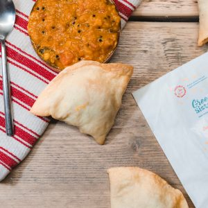 Hand-made Plant based and Allergen Free Samosas by Green Sisters