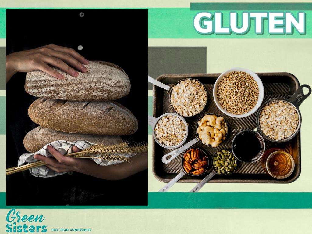 Some assorted images of Gluten in grains and bread.