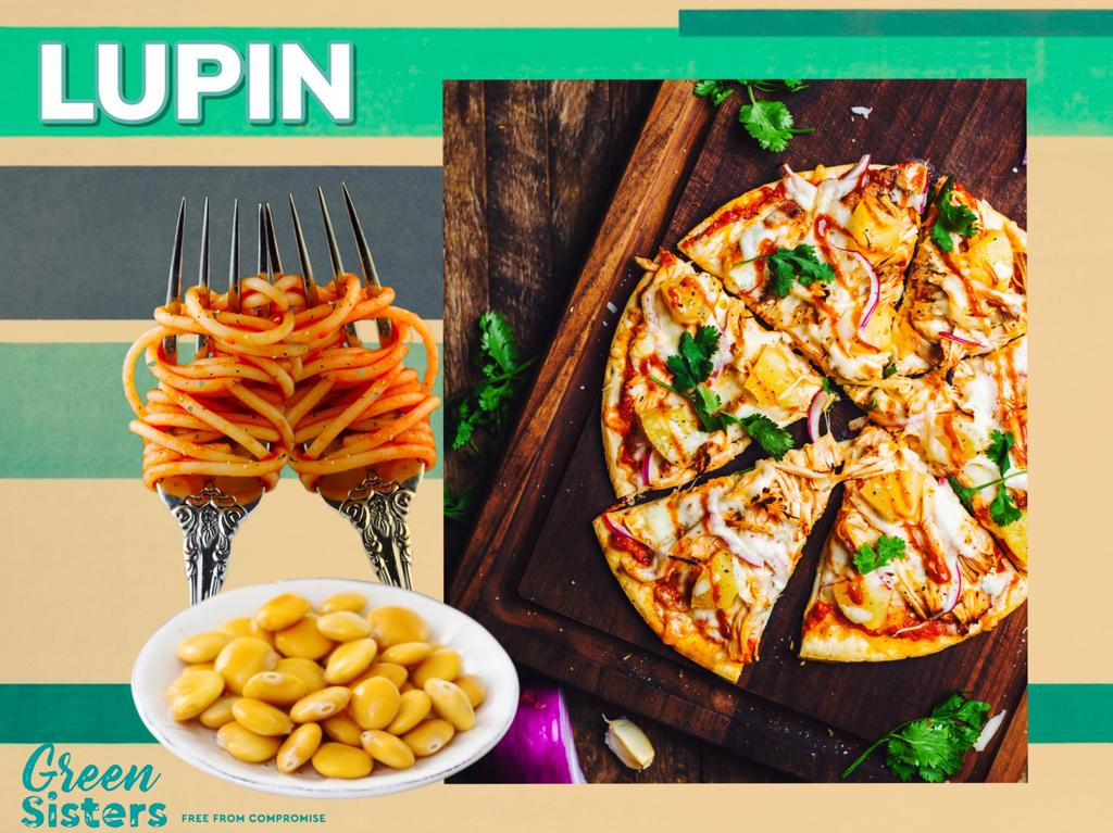 Some assorted images of lupin seeds, as well as carbs, where lupin can be found.