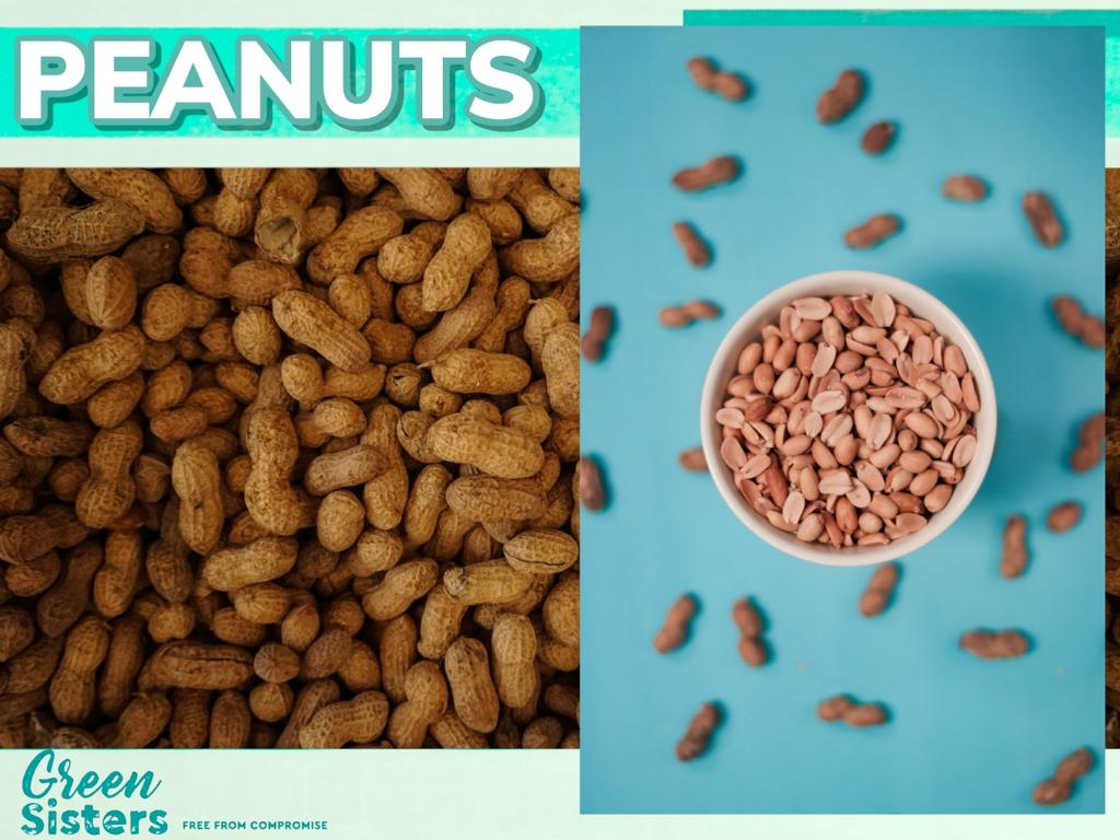 Some assorted images of peanuts (also known as groundnuts).